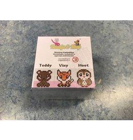 Cutiepix kubus  Teddy, Vixy en Hoot
