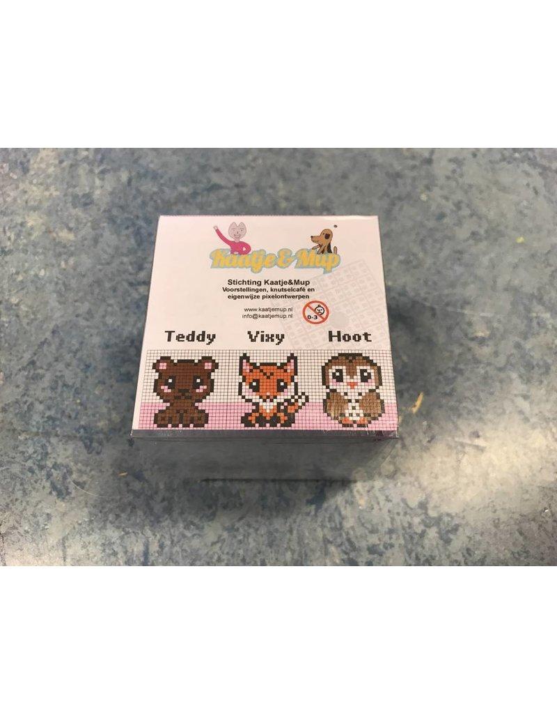 Cutiepix kubus - Teddy, Vixy en Hoot