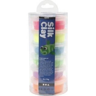 Silk Clay, 6x14 gr, neon assorti