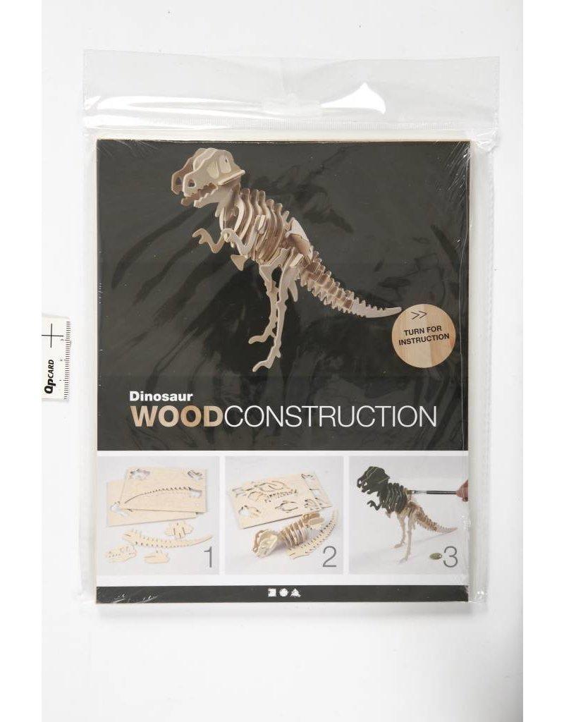 3D Puzzel, dinosaurus  lxbxh 33x8x23 cm, 1 stuk, triplex