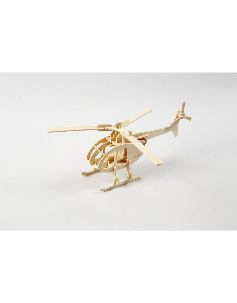 3D Puzzel, helicopter  lxbxh 26,5x14x26 cm, 1 stuk, triplex
