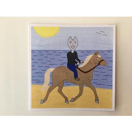 Kaatje&Mup Dubbele kaart: Jeetje paardrijden