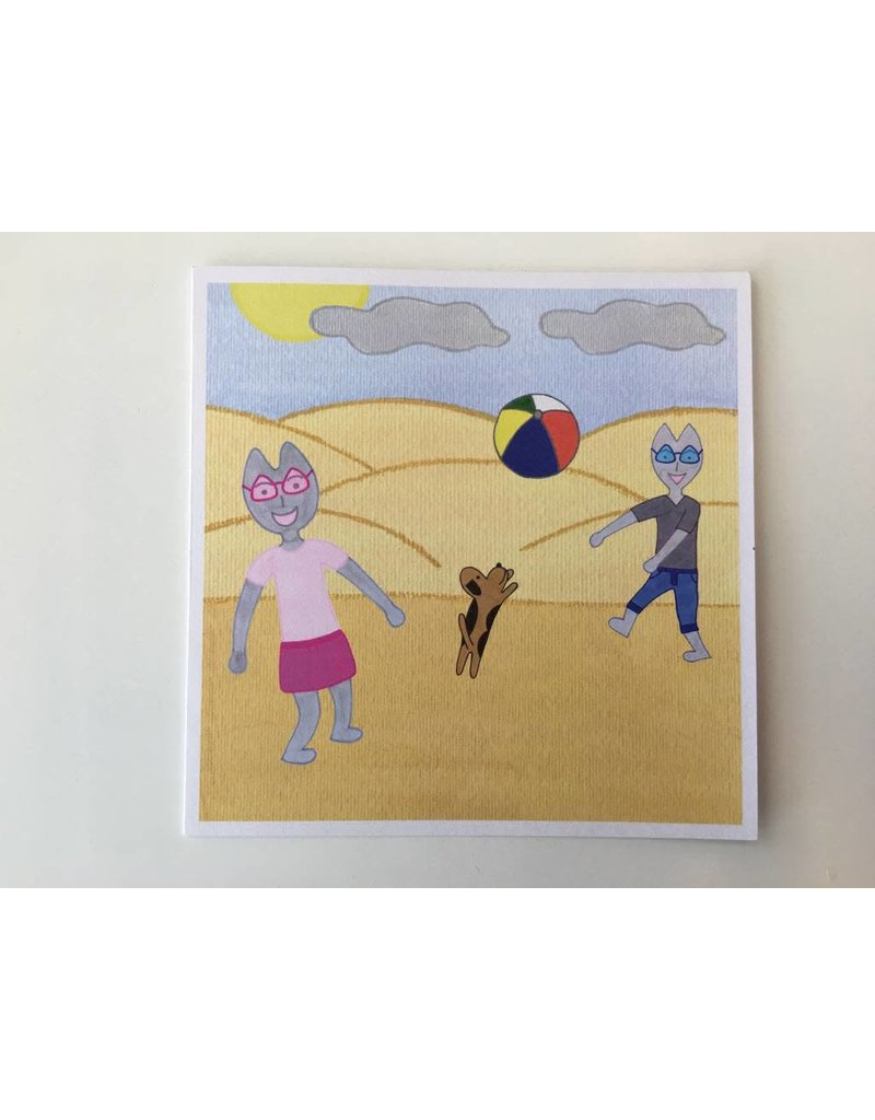 Kaatje&Mup Dubbele kaart: Spelen met strandbal