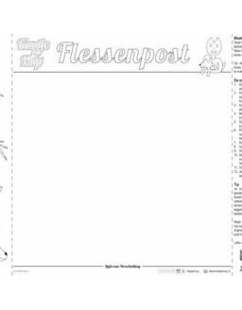 Kaatje&Mup Kleurplaat Placemat  Zandkasteel  per stuk