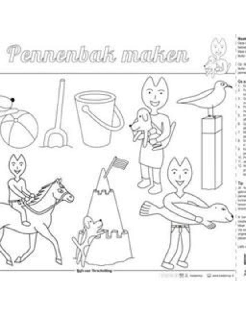 Kleurplaten Zeehond.Kleurplaat Placemat Zeehond Per Stuk Stichting Kaatje Mup