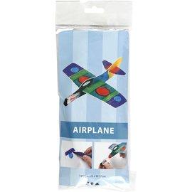 Vliegtuig, l: 17,5 cm, b: 17 cm, 3 stuks