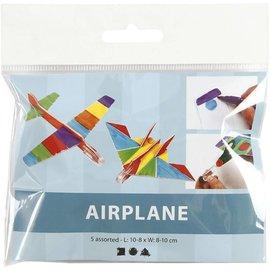 Vliegtuig, l: 810 cm, b: 810 cm, 5 stuks