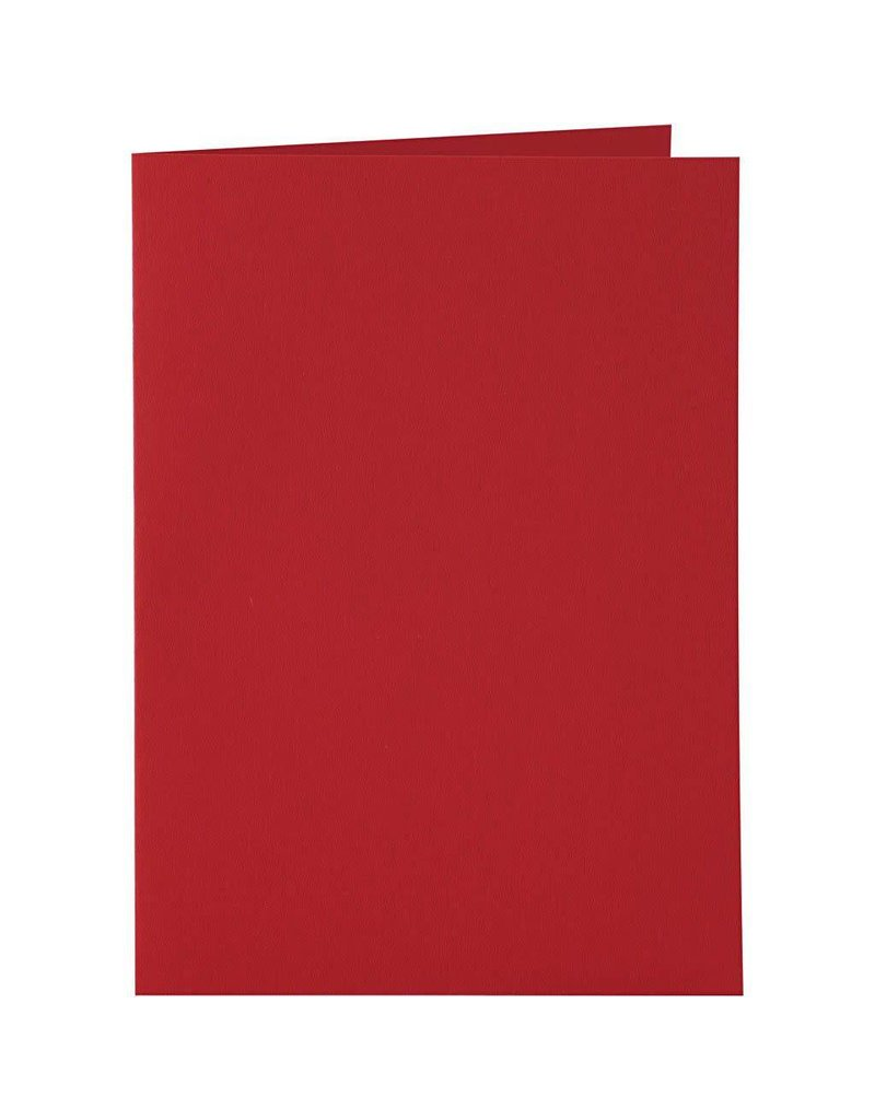 Kaarten & enveloppen, 10,5x15 cm, 6 sets, rood