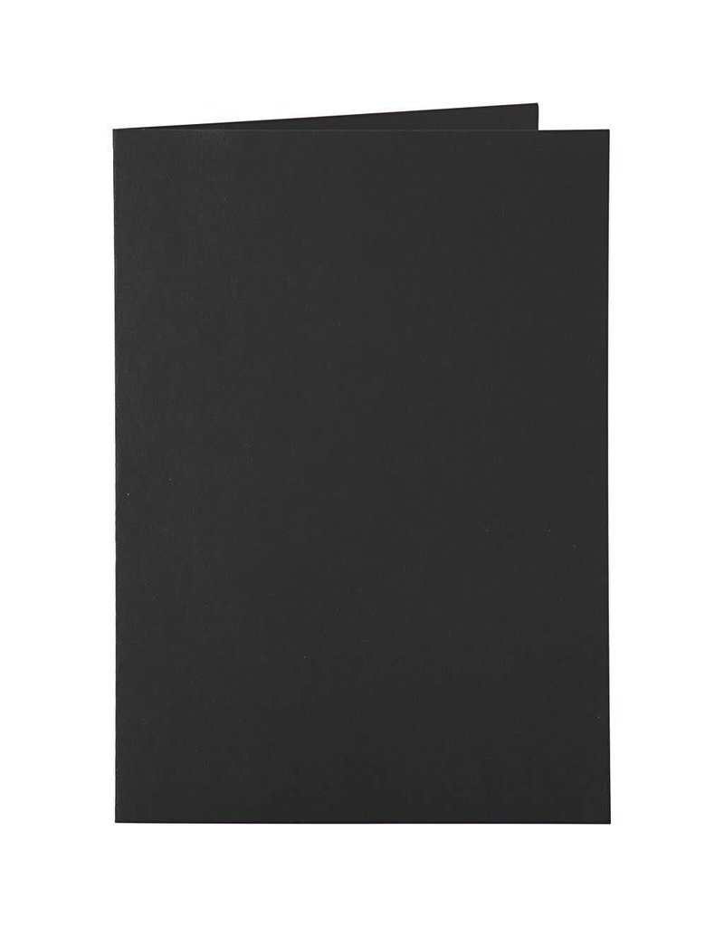 Kaarten & enveloppen, 10,5x15 cm, 6 sets, zwart