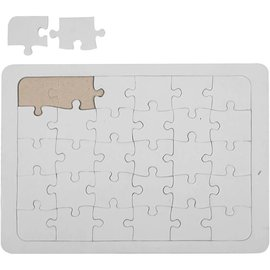 Puzzel, A5 15x21 cm, wit, per stuk