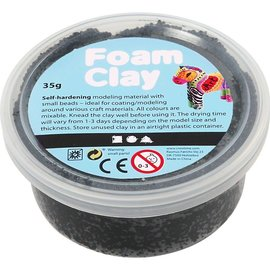 Foam Clay, 35 gr, zwart