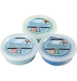 Foam Clay Sets, 3x14 gr, blauw, lichtblauw, groen