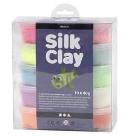 Silk Clay, 10x40 gr, kleuren assorti