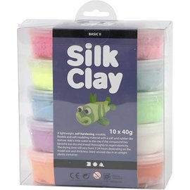 Silk Clay, 10x40 gr, kleuren assorti