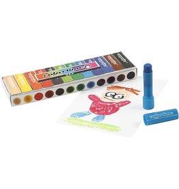 Soft Color Stick, 10 gr, l: 8 cm, 12 stuks, kleuren assorti