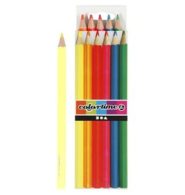 Colortime kleurpotloden, vulling: 4 mm, 6 stuks, neon kleuren