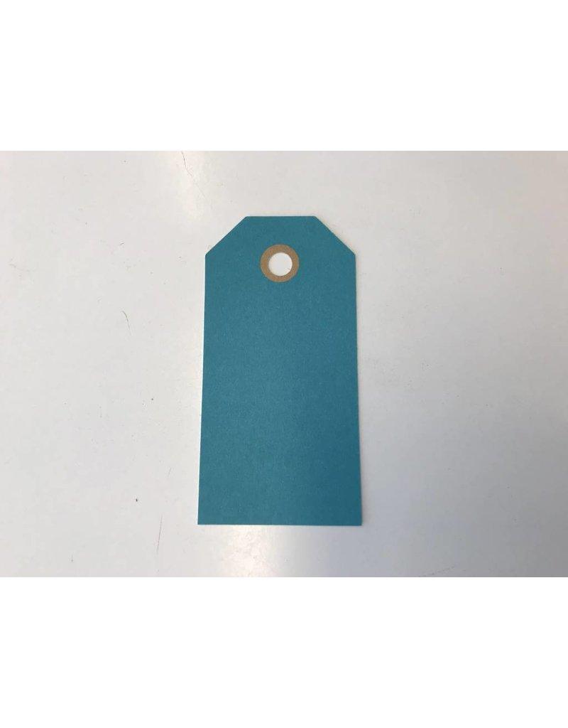 Cadeaulabels, 250 gr, Blauw  Groot, per stuk