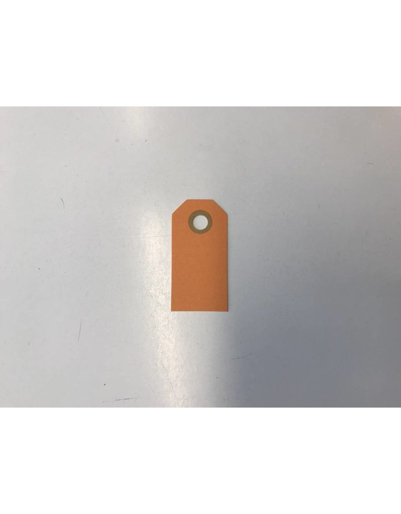 Cadeaulabels, 250 gr, Oranje  Klein, per stuk