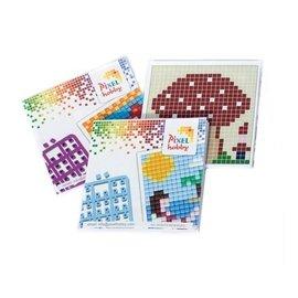 Pixel Hobby Boekjes mini  Set van 3, voor basisplaat klein, vierkant