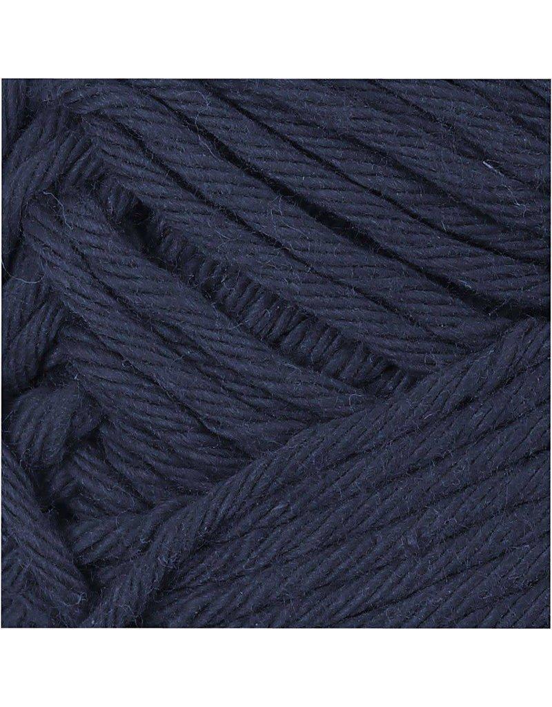 Katoengaren, l: 8085 m, 50 gr, donkerblauw