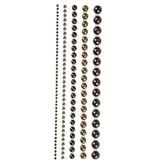 Halve parels, afm 28 mm, 140 div, bruin