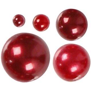 Halve parels, afm 28 mm, 140 div, rood