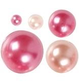 Halve parels, afm 28 mm, 140 div, roze