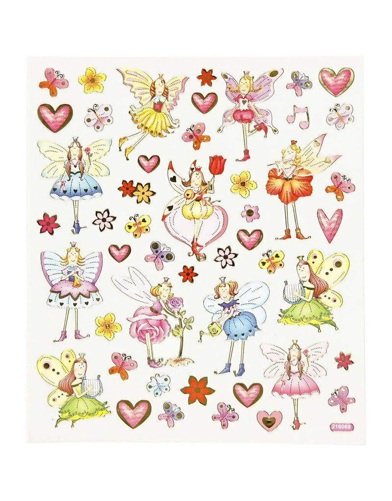 Fancy glitter stickers, vel 15x16,5 cm, 1 vel