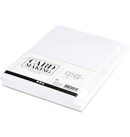 Kaarten & enveloppen, 10,5x15 cm, 50 sets, wit