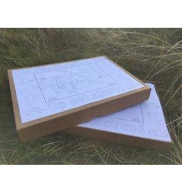Kaatje&Mup Kleurplaat Placemat - Zandkasteel - Doos 400 stuks