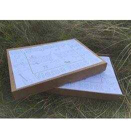 Kaatje&Mup Kleurplaat Placemat - MIX Kerst - 3x133=399  stuks