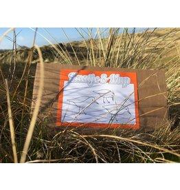 Kaatje&Mup Kleurplaat Ansichtkaart - Strandlopertjes - Doos 75 stuks