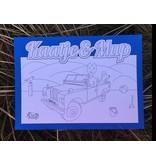 Kaatje&Mup Kleurplaat Ansichtkaart - Strandrijden - Doos 75 stuks