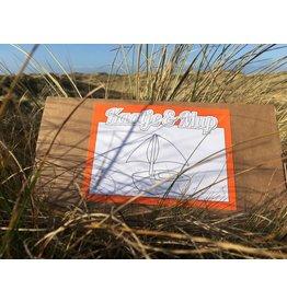 Kaatje&Mup Kleurplaat Ansichtkaart - Zeilboot - Doos 75 stuks