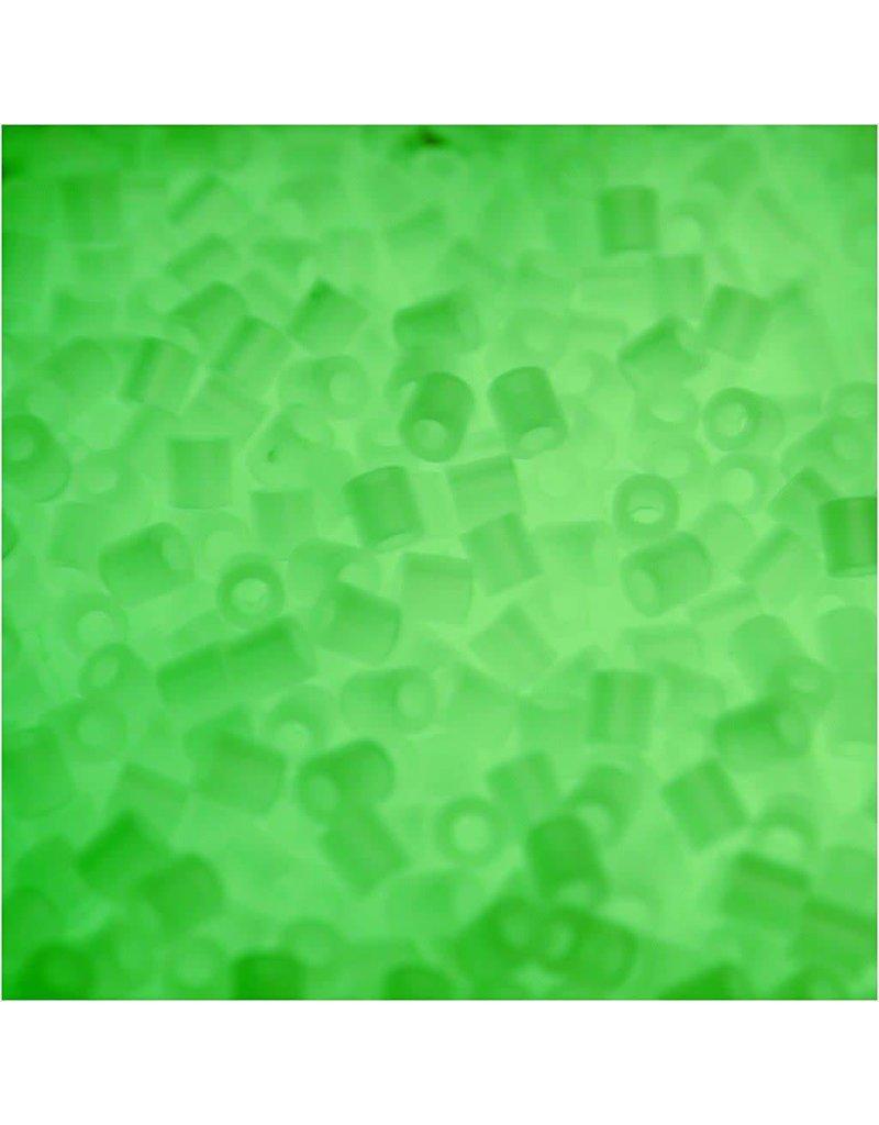Strijkkralen, afm 5x5 mm, gatgrootte 2,5 mm, 1100 stuks, lichtgevend