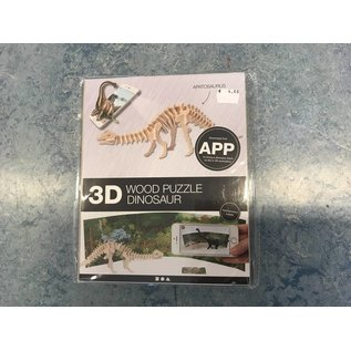 3D apatosaurus Hout constructieset met APP, h: 12 cm, l: 35,5 cm, 1 stuk, triplex