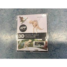 3D spinosaurus Hout constructieset met APP, h: 22 cm, l: 24 cm, 1 stuk, triplex