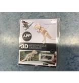3D tyrannosaurus rex Hout constructieset met APP, h: 12 cm, l: 35,5 cm, 1 stuk, triplex