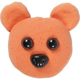 Teddybeer ogen & neuzen, d: 10-15 mm, afm 15-25 mm, 12 div
