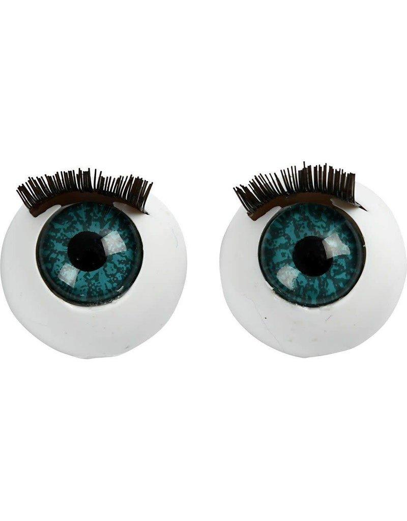 Grote ogen, afm 12 mm, 6 stuks