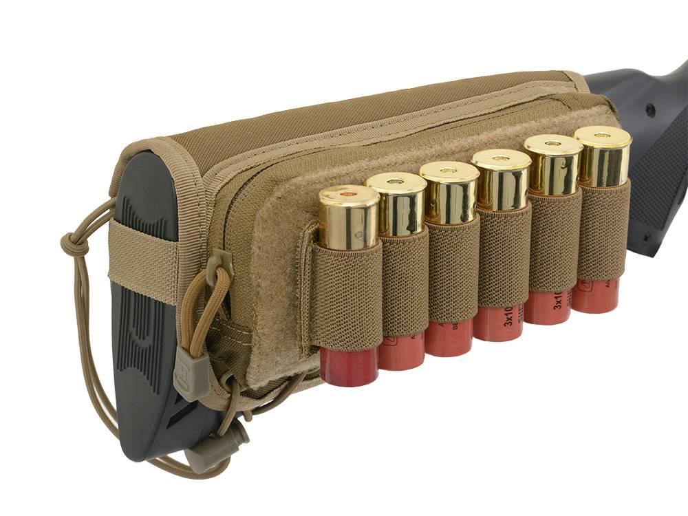 Shotgun Stock Shell Holder Pouch Coyote Skirmshop Uk Ltd