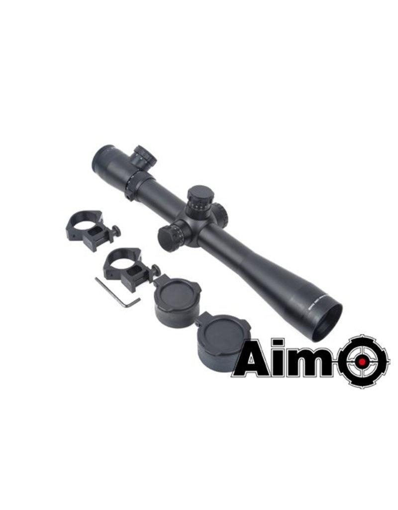 Aim-O  Aim-O 3.5-10x40E-SF Scope - Red/Green Reticle (Black)