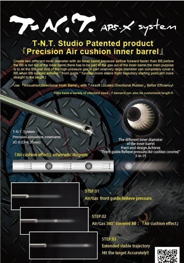 TNT Studio  TNT 470mm VSR Barrel - Unbridged