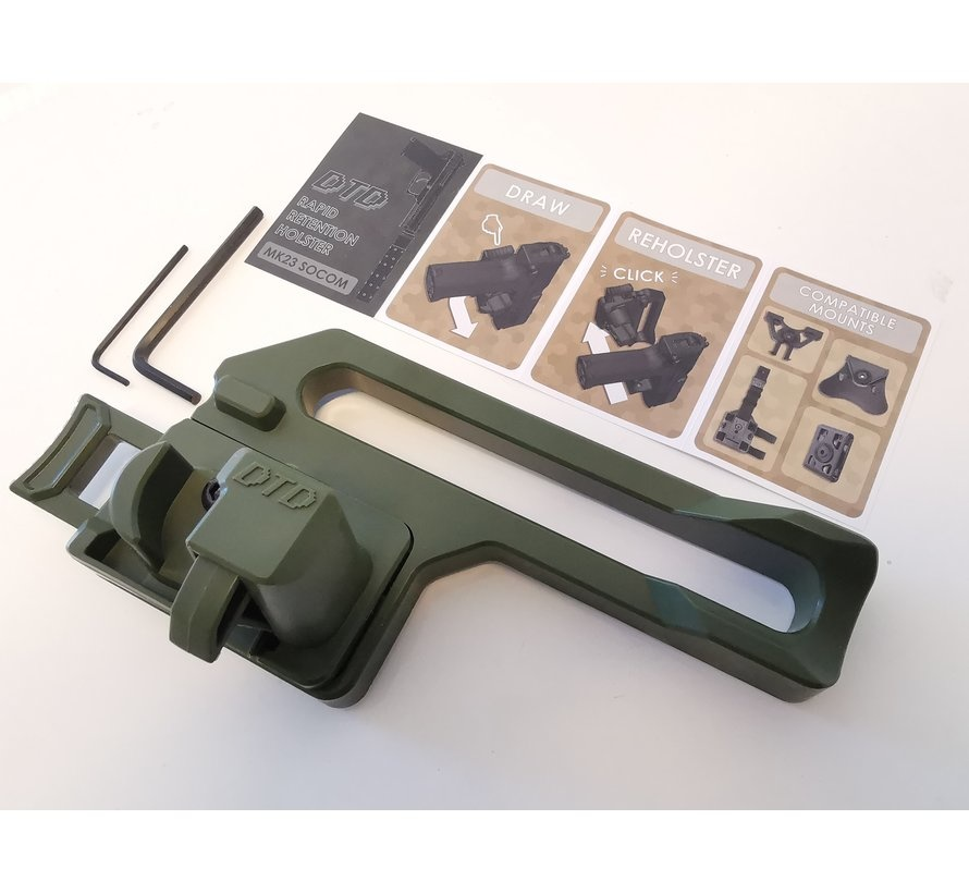DTD MK23 Retention Holster - Olive Drab