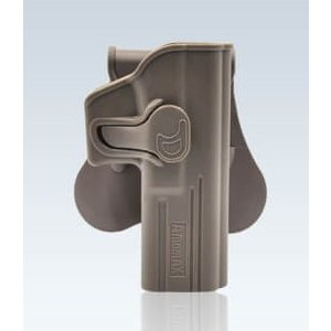 Amomax Black Speed Release Glock Holster  - FDE