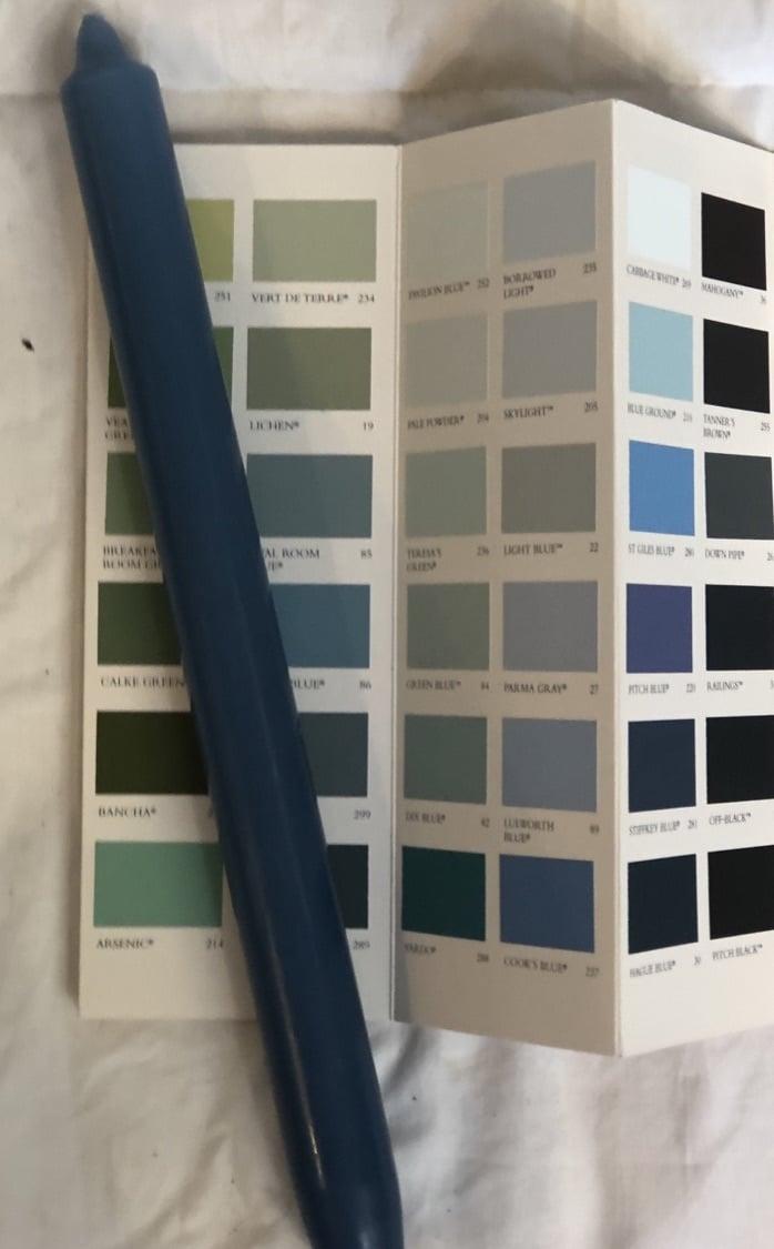 Top kwaliteit kaars in prachtig jeans blauw