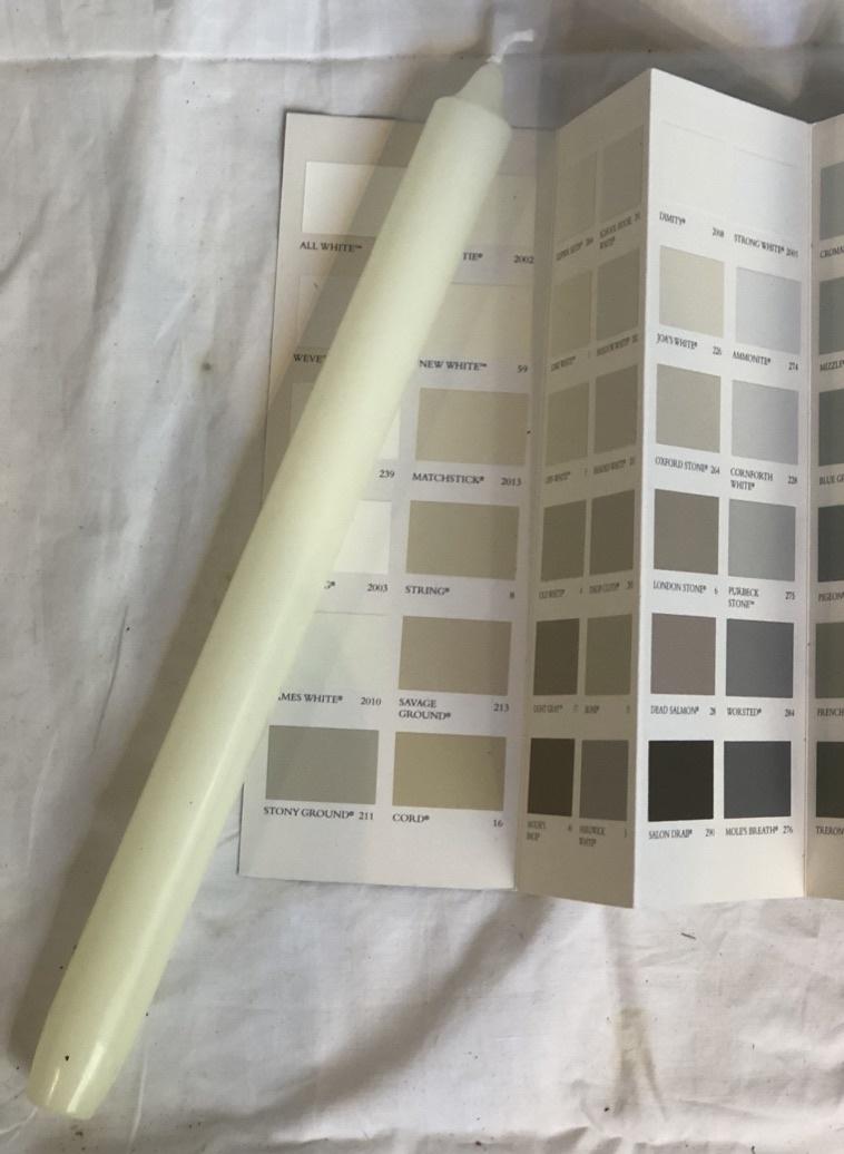 Top kwaliteit kaars in ivoor kleur