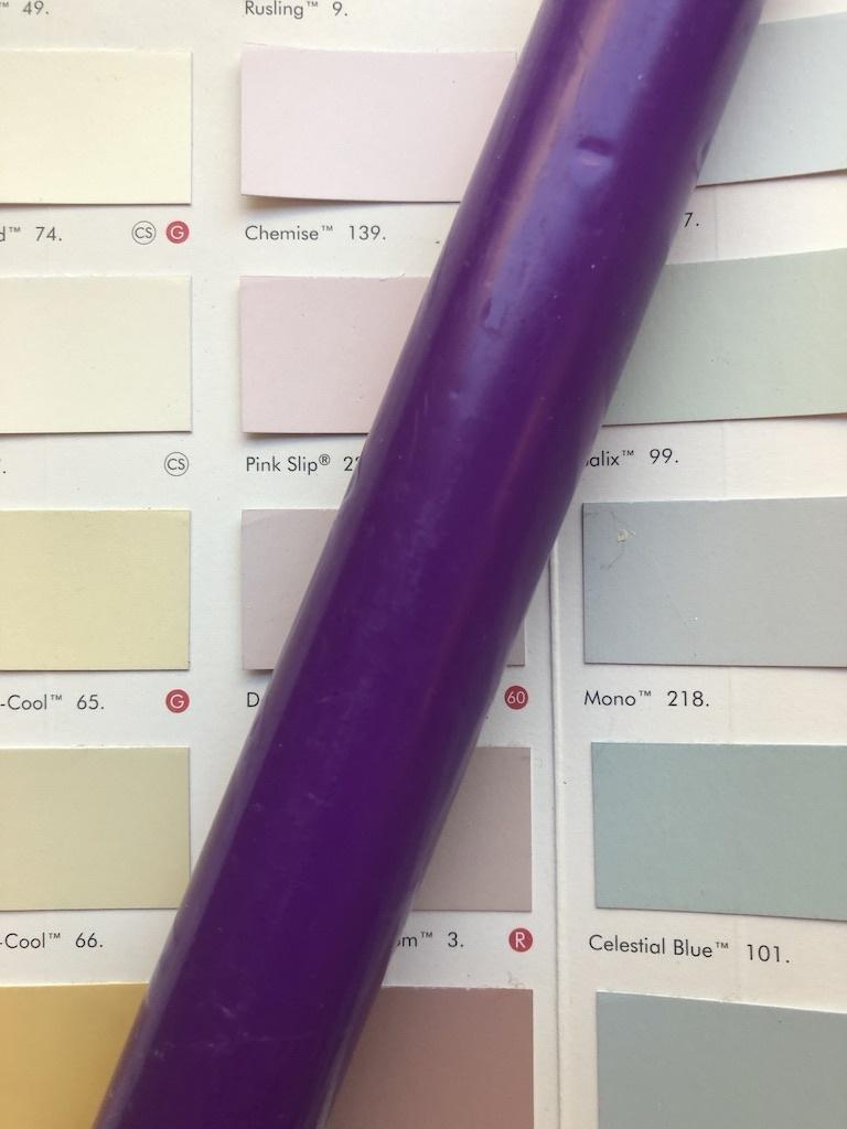 Top quality candle deep purple