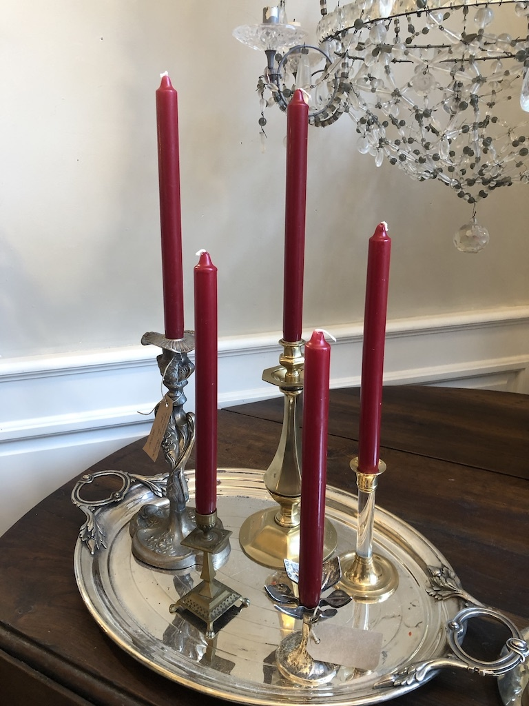 Top quality candle bordeaux