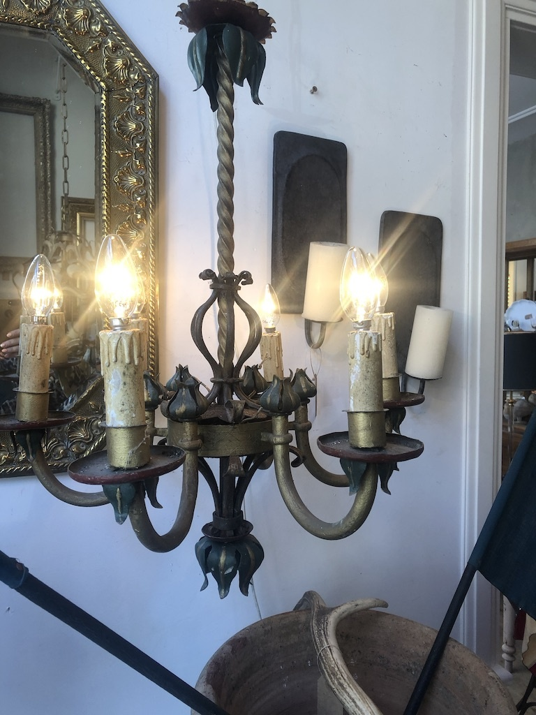 Almost antique chandelier,  painted iron
